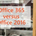 Office 365 versus Office 2016