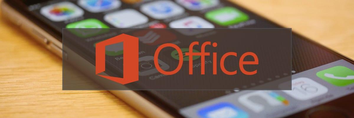 Office aplikace pro telefony