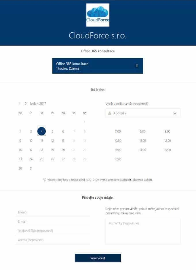 microsoft_bookings_rezervacni_formular